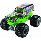 Hot Wheels Monster Jam Grave Digger Die-Cast Vehicle, 1:24 Scale, Black and Green