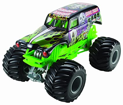 Hot Wheels Monster Jam Grave Digger Die Cast Vehicle 1 24 Scale Black And Green