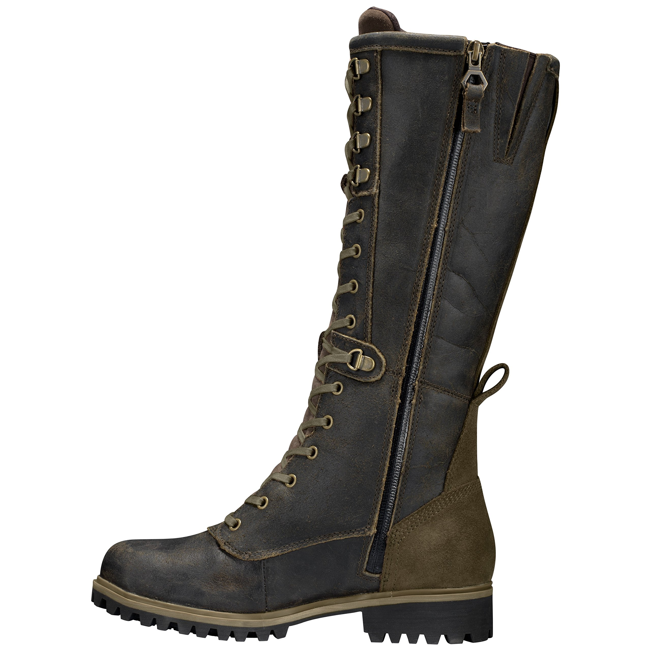 Timberland Women's Wheelwright Tall Lace Waterproof Boot 9 US M Dark Brown Suede by Timberland (Image #6)