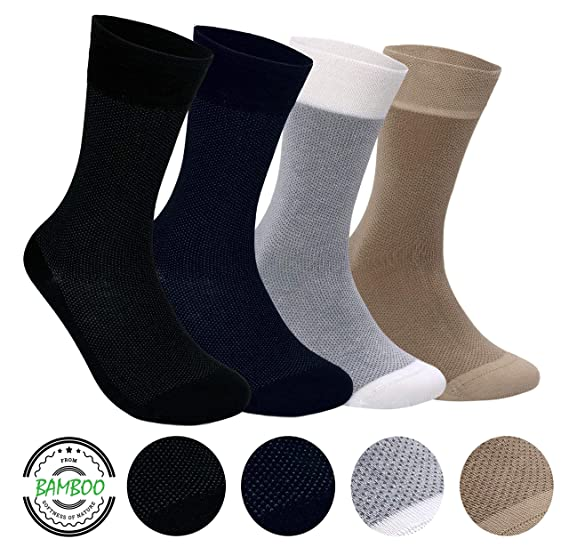 Silken Socks Black Bamboo Series Antibacterial Soft Seamless Socks For Men