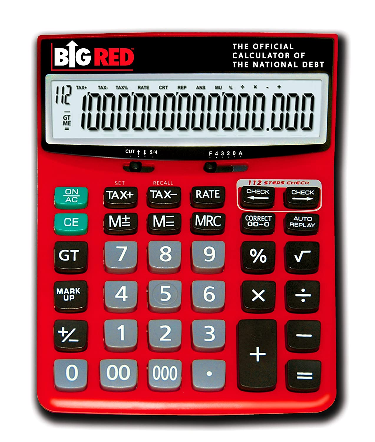 amazoncom big red calculator the official calculator of the national debt financial calculators electronics