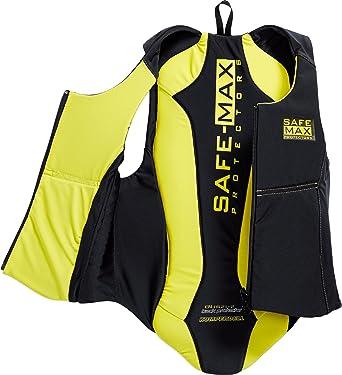Safe Max Protektorenweste Motorrad Herren Und Damen Kinder Wendeweste M Rückenprotektor 1 0 Schutzkl 2 152 L Multipurpose Ganzjährig Textil Gelb Bekleidung
