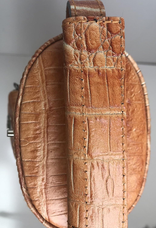 Vincitore Genuine Leather Tan Croc Embossed 3 Butt 5 Shaft 3x5 Jump Butt Pocket