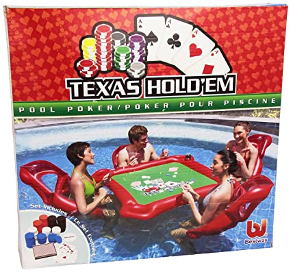 Amazon.com: Texas Hold em inflable piscina Set w/tabla de ...