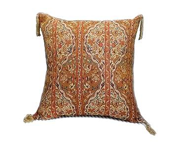 Neu Golden Orange,Kissenbezug,Kissenhülle,Orientalische Dekokissen,Orientalische Stoffe,Damaskunst S 2-2-4031