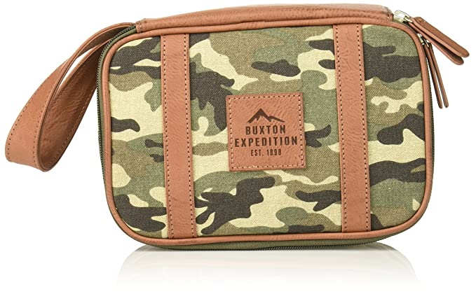 Buxton Mens Expedition Ii Huntington Gear Top Zip Canvas Travel Kit Packing  Organizers - Green -  Amazon.co.uk  Clothing 4b86fd35f5e90