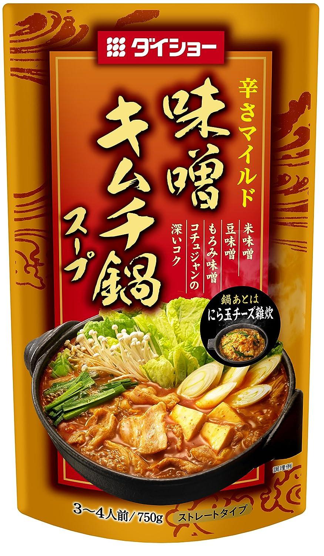 ダイショー 辛さマイルド 味噌 キムチ鍋 スープ 750g×10