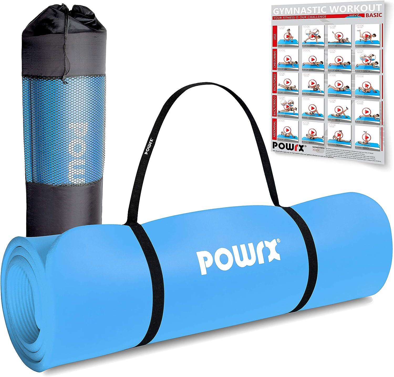 sport Dans diff/érentes couleurs gymnastique Pour fitness Tapis de yoga Rexoo Pilates