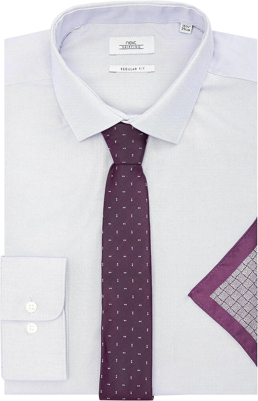 next Hombre Camisa Oxford Corte Estándar con Corbata Y Pañuelo ...
