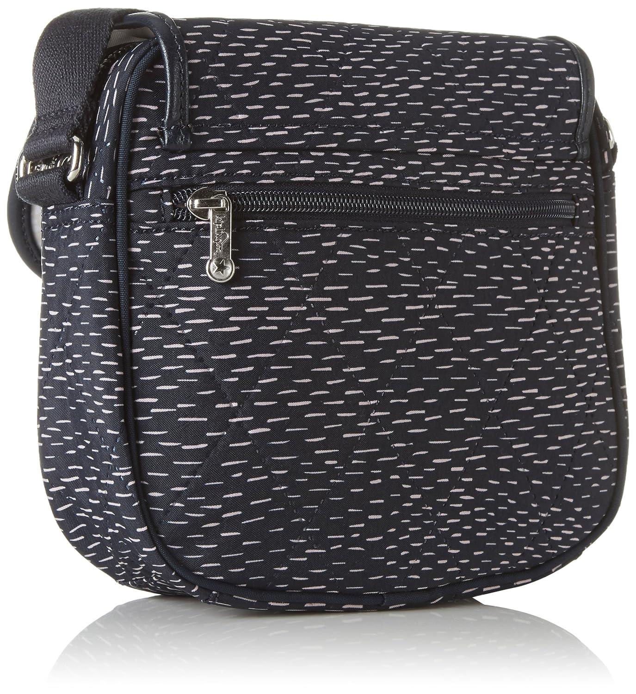 Kipling Irena, Women's Cross-Body Bag, Blau (Stripe Quilt)