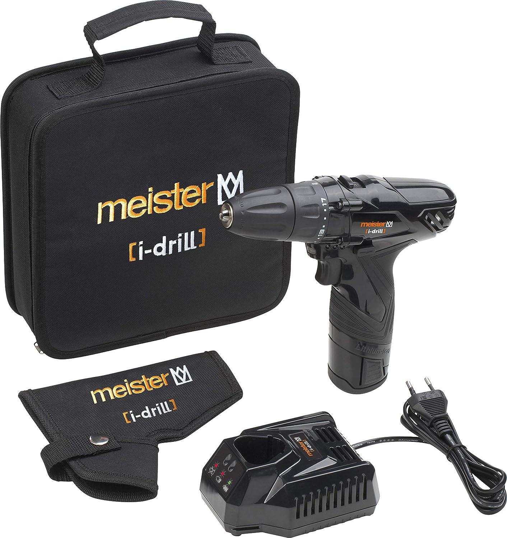 colore: Nero Meister 5450530- Batteria agli ioni di litio per trapani avvitatori da 12 V 2.100 mAh