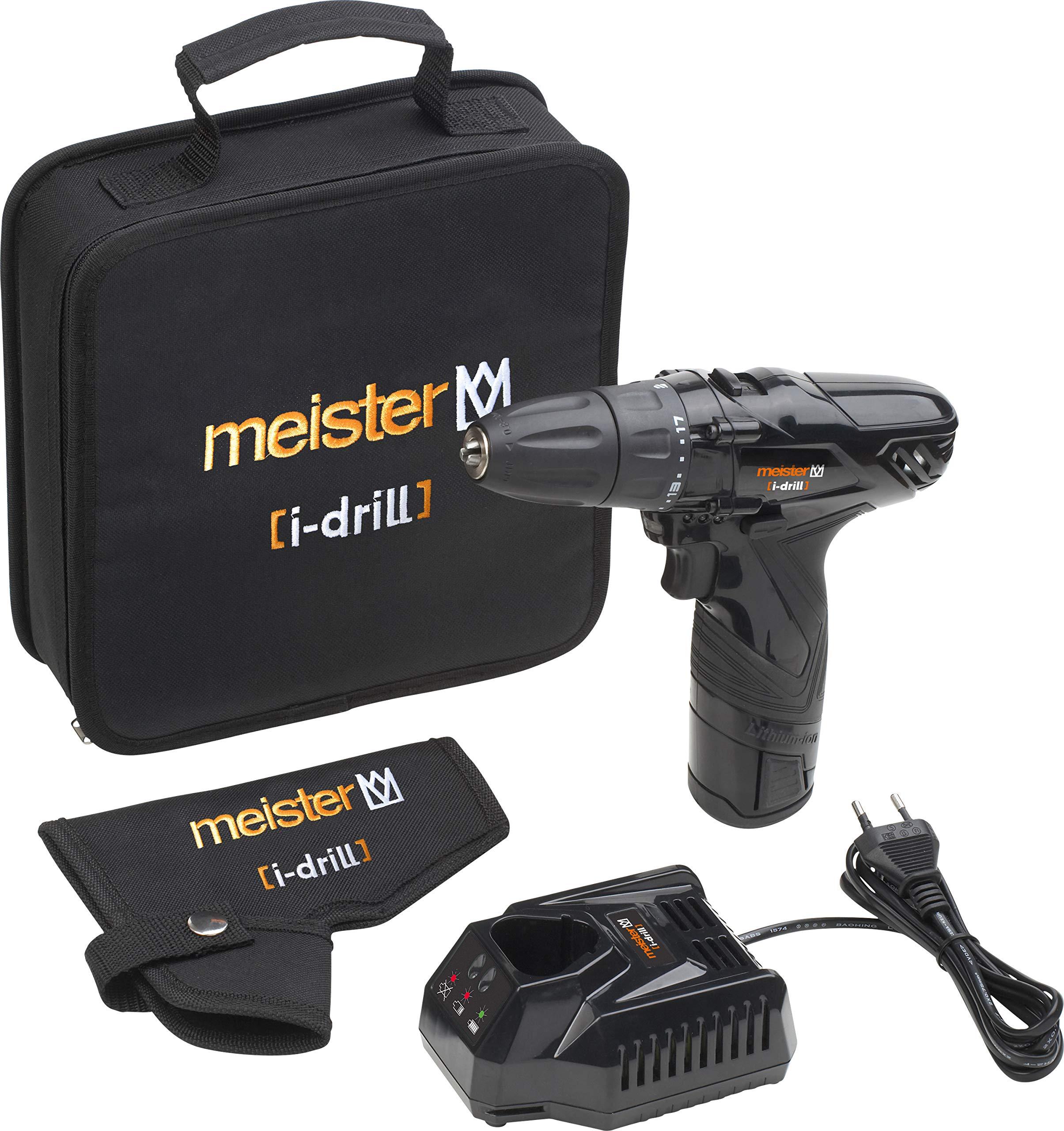 Meister MAS 12ib - Trapano avvitatore a batteria agli ioni di litio i-drill black edition product image