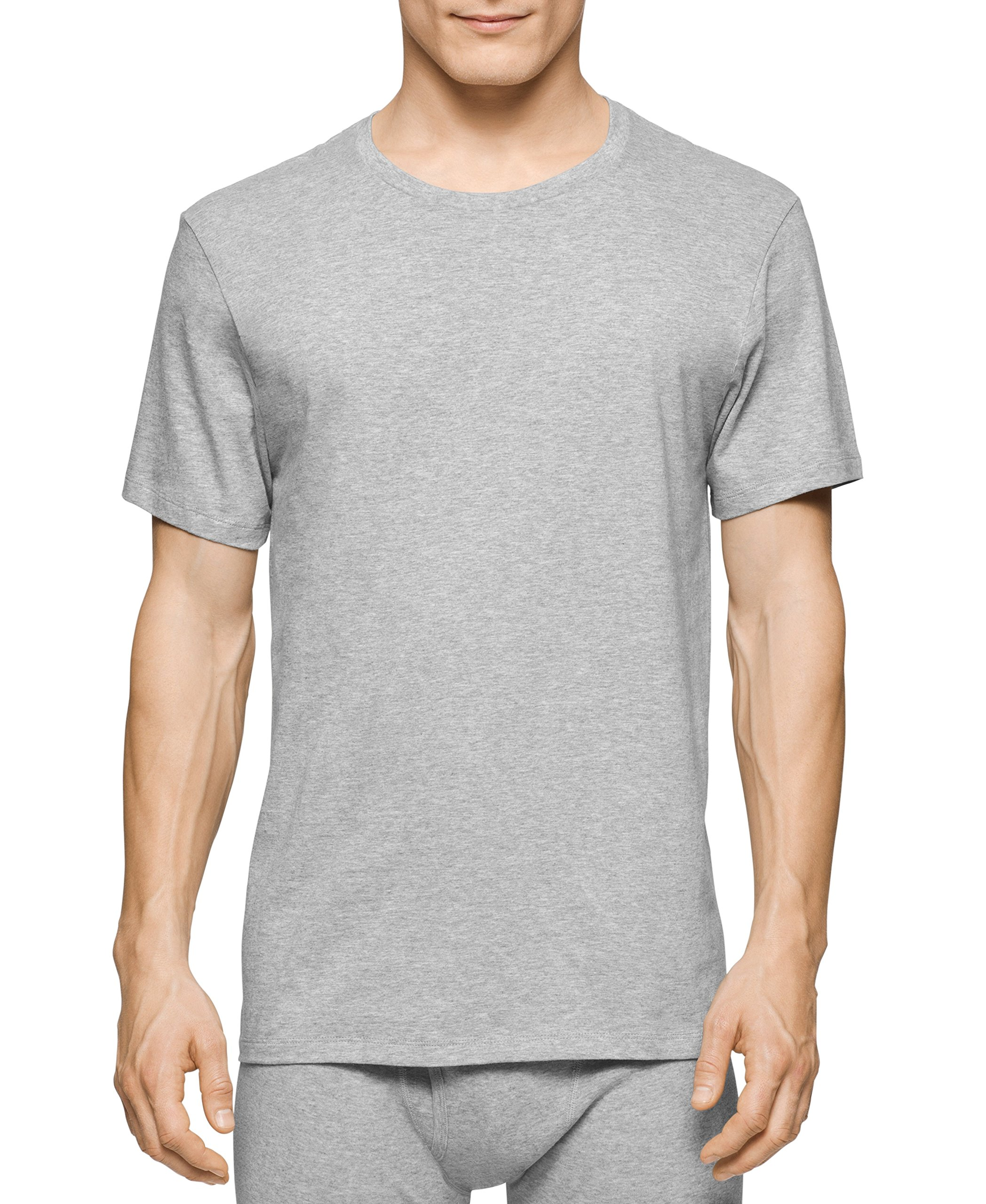 Calvin Klein Men's Undershirts Cotton Classics 3 Pack Crew Neck Tshirts,Multi,Small by Calvin Klein (Image #2)