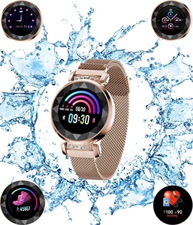 UWINMO Smart Watch, Fitness Tracker with Heart Rate Blood Pressure Sleep monitor for Android IOS, Waterproof Activity Tracker Watch with Calorie Counter Pedometer, Health Sport Watch for Women