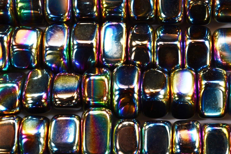 Rainbow Magnetic Hematite Bracelet with Rhinestones