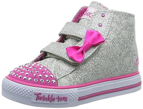 Skechers Mélange Les Étapes Consistant À Saupoudrer - Chaussures En Plastique Pour Un Enfant, D'argent - Argent (argent / Rose), 21 Eu (4 K Uk)