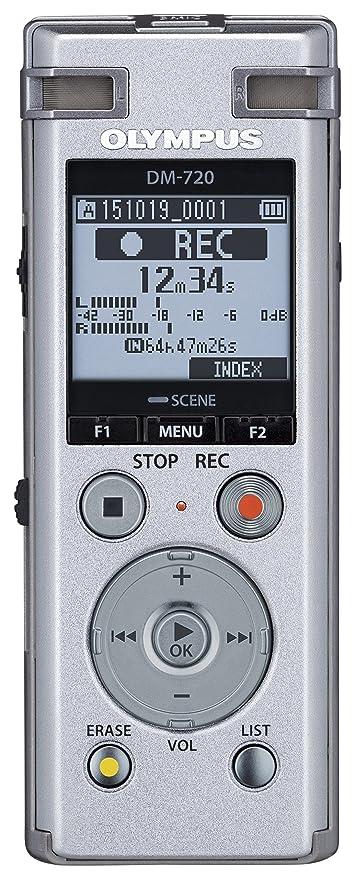 Olympus DM-720 Memoria interna y tarjeta de memoria Plata - Dictáfono (985 h