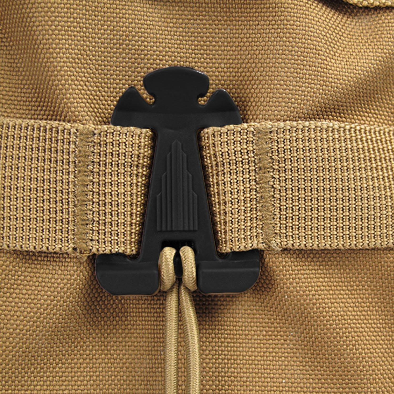 10Pcs Cintur/ón exterior correa cuerda Cierre hebilla Clips con mochila de cuerda el/ástica Accesorios para camping Senderismo Mochila