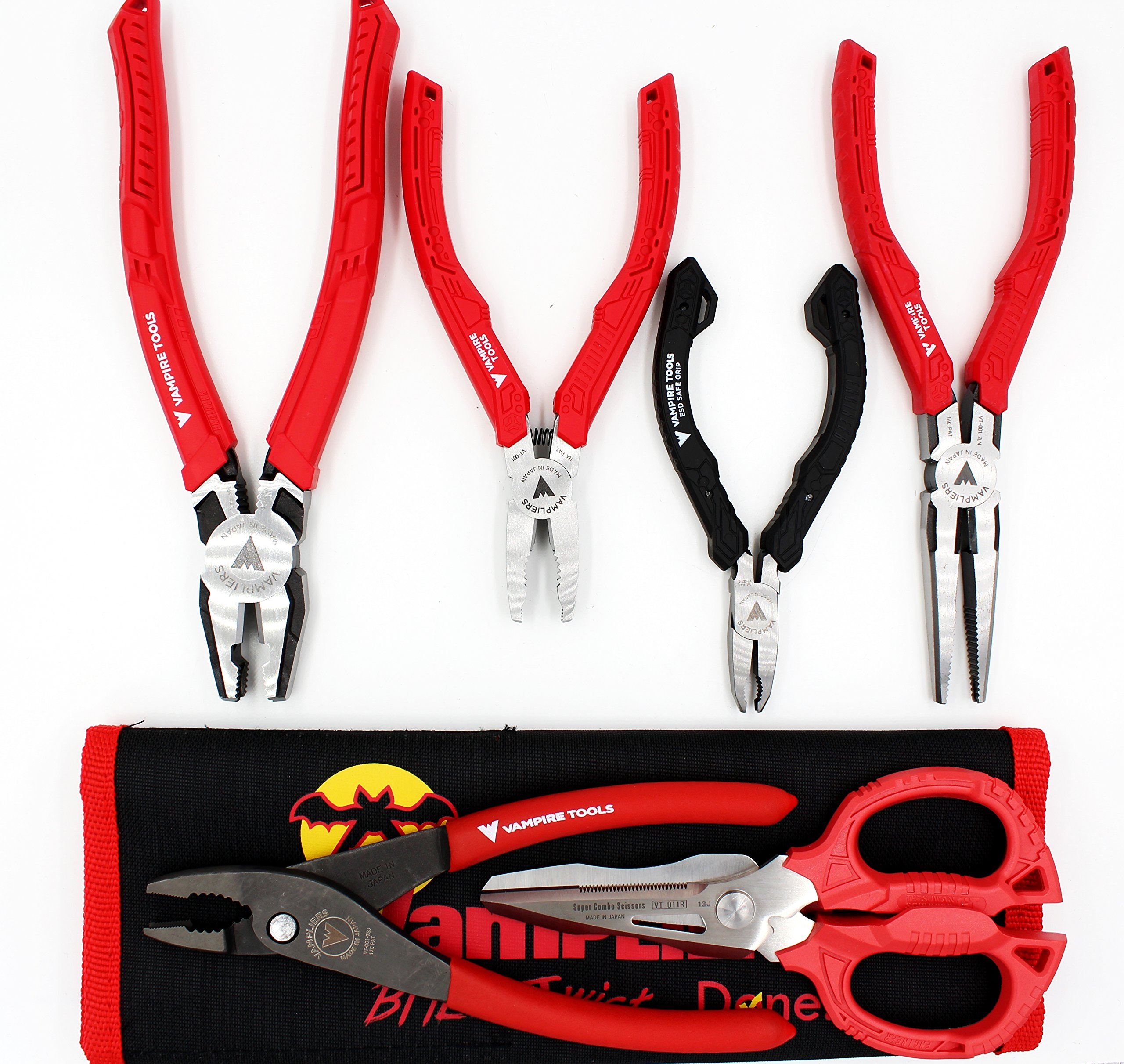 VamPLIERS. World's Best Pliers! 6-PC Set S6APC Specialty Screw Extraction Pliers. Extract Stripped Stuck Security, Corroded, or Rusted Screws + Tool Pouch & VT CAP