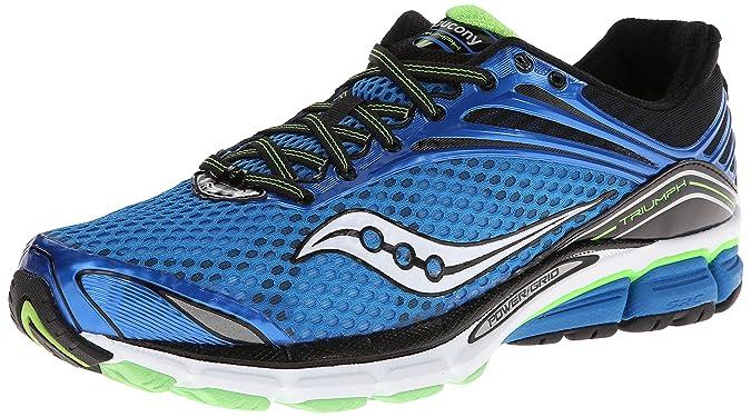 Saucony Triumph 11 - Zapatillas de Running para Hombre, Color Azul/Negro/Verde/Blanco, Talla 46: Amazon.es: Zapatos y complementos