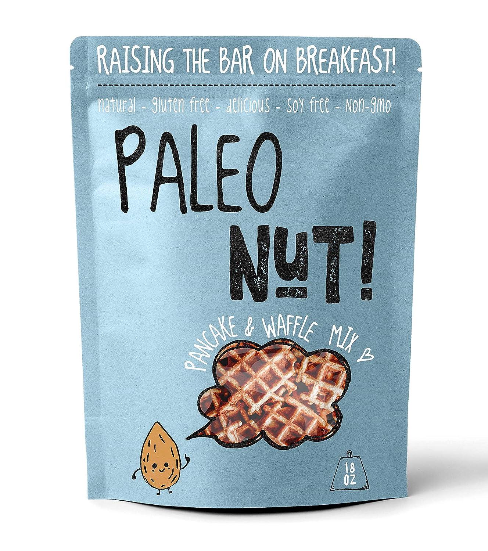 Paleo Nut Pancake & Waffle Mix (18oz. Family Size), Made With Whole Foods, Gluten Free, Paleo & Vegan Friendly