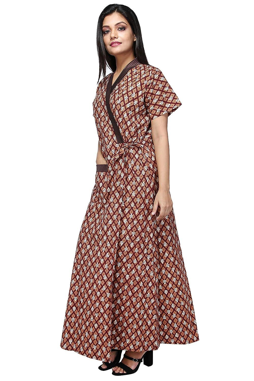 4af8579d57 babydoll women s ladies housecoat house coat lounge coat robe indian nighty  night gown nightwear sleepwear size