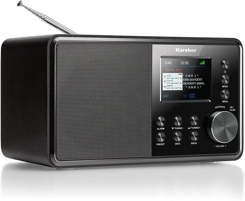 Karcher Dab 16 Radio Digital Dab+ / FM RDS – Aux-In – Despertador con  Alarma Dual Negro