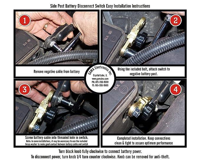 amazon com gama electronics side post battery master disconnectamazon com gama electronics side post battery master disconnect switch automotive