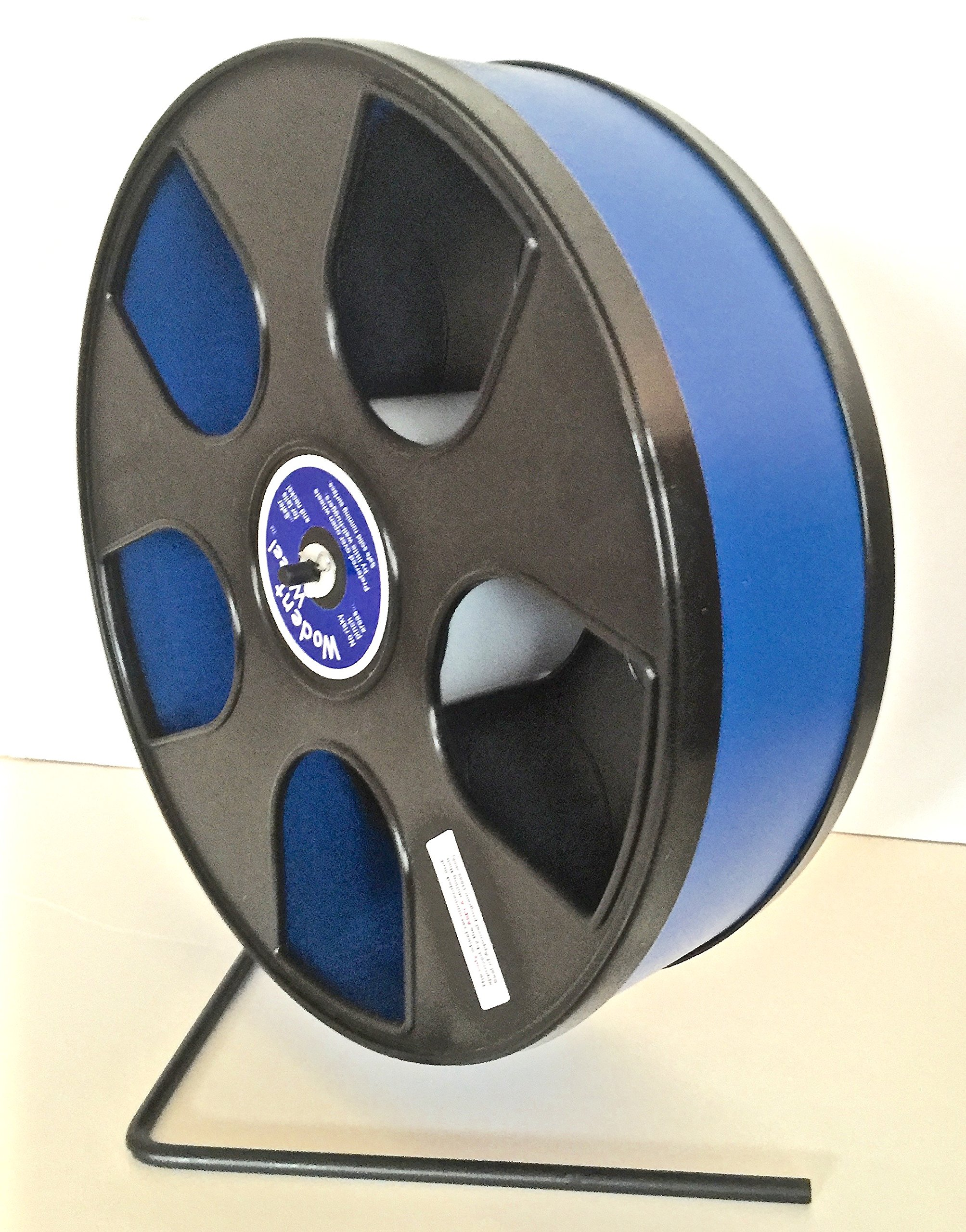 CHINCHILLA, HEDGEHOG, MULTIPLE GLIDERS 12'' DIAMETER 'WODENT'' WHEEL WITH WIDE TRACK-BLACK WITH LIGHT BLUE TRACK