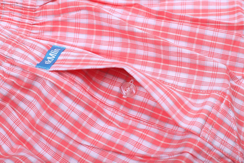 ekMlin mens boxer shorts woven 100/% cotton 4-pack