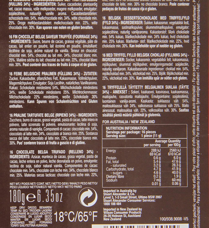 Amazon.com : Chocolaterie Guylian La Trufflina Ballotin in Geschenkverpackung, 1er Pack (1 x 180 g) : Grocery & Gourmet Food