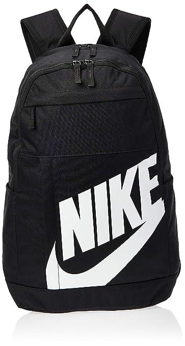 Nike Uni NK ELMNTL BKPK 2.0 Sports Backpack, Black(White