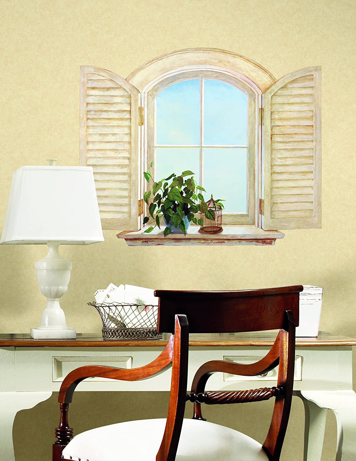 York Wallcoverings KT8579M Window with Shutters, Mural - Wall Murals ...