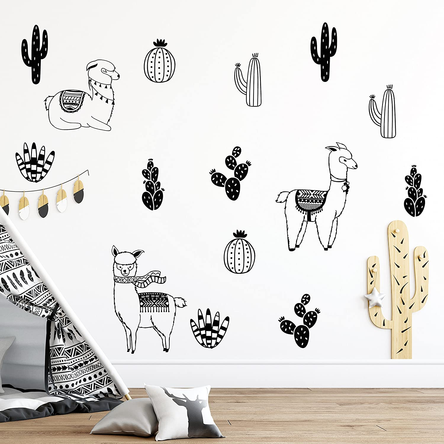 Alpacas Wall Decals Llama Decal Cactus Decals Alpaca Decals Nursery Decals