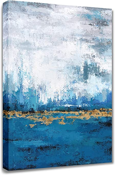 ukrainian artist,16 x 12 white abstract animal painting Colorful painting Original art small oil size blue abstract art Oil painting