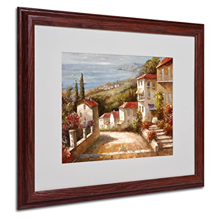 Home in Tuscany by Joval Canvas Artwork in Wood Frame, 16 by 20-Inch