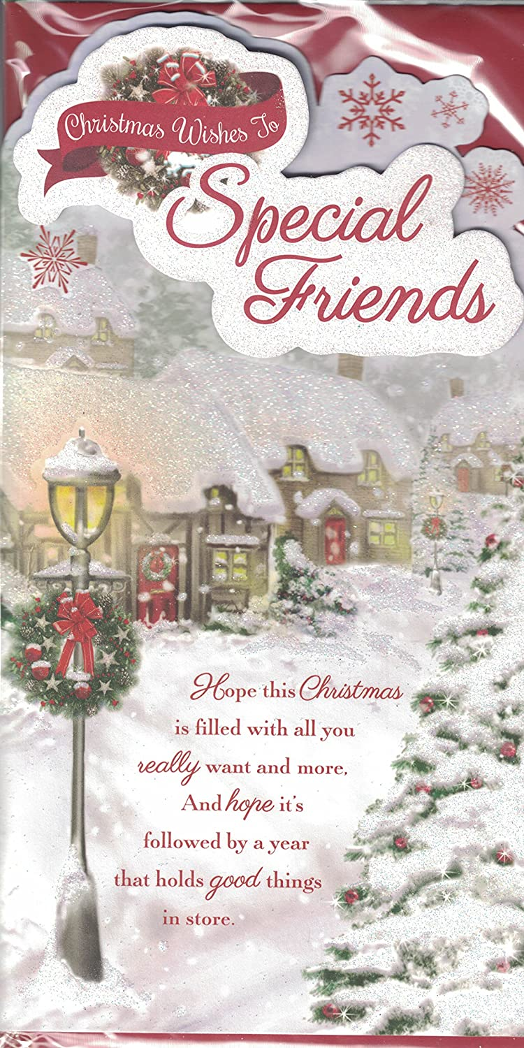 Friends christmas card to very special friends at christmas friends christmas card to very special friends at christmas traditional robin verse quality card by prelude amazon toys games kristyandbryce Images