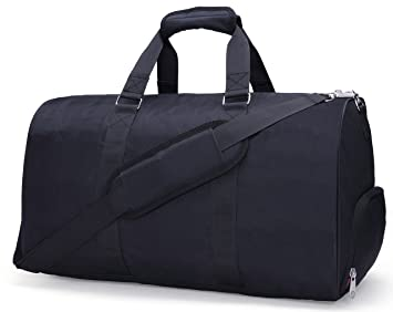 MIER Gym Duffel Bag For Men And Women With Shoe Compartment Carry On Size