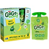 GoGo squeeZ Applesauce, Apple Banana, 48 Pouches (12 Boxes with 4 Pouches Each)
