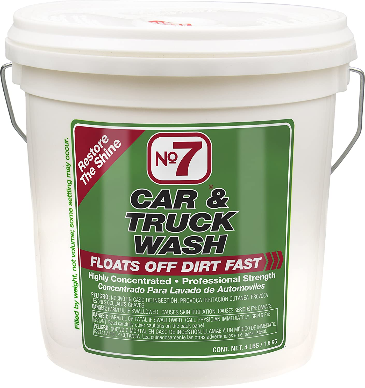 No7 Car & Truck Wash: Concentrated Powder, 4 lb Bucket No. 7 16330-EACH