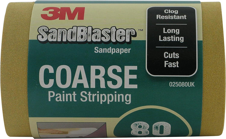 3M SandBlaster TM Sandpaper Abrasive Sheets p240 Fine Between Coats 8 Sheets