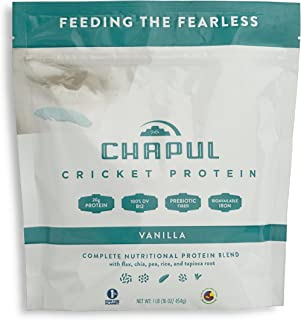 product image for Chapul Cricket Protein Powder (Vanilla, 1 Pound) - 20g Complete Protein per Serving, High in Prebiotic Fiber, Low Sugar, 2 Net Carbs, Keto-Friendly