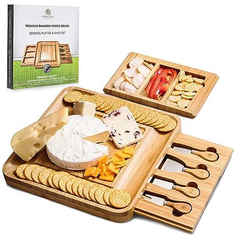 Amazon.com: Addictive Homewares - Tabla de queso con cajones ...