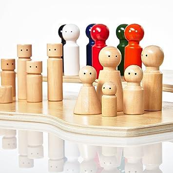 Lumaland Juego Pedagógico para el Entrenamiento y la Terapia Familiar Constelaciones Familiares y Sistémicas con 32 Figuras de Madera: Amazon.es: Juguetes y juegos