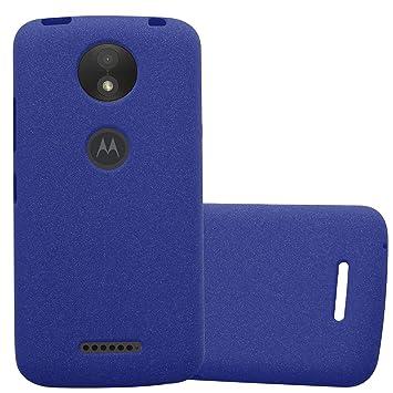 Cadorabo Funda para Motorola Moto C Plus en Frost Azul ...