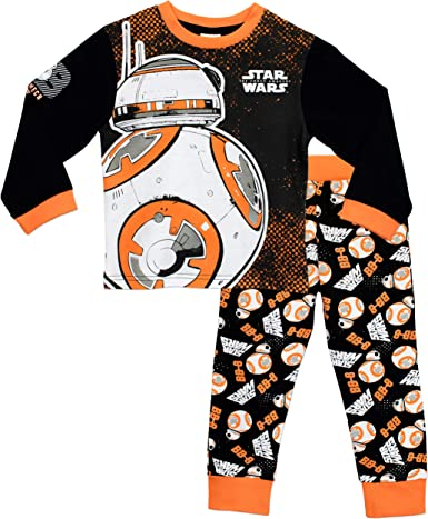 BOYS OFFICIAL STAR WARS THE FORCE AWAKENS BB-8 DROID PYJAMAS AGES 4-5 up to 9-10