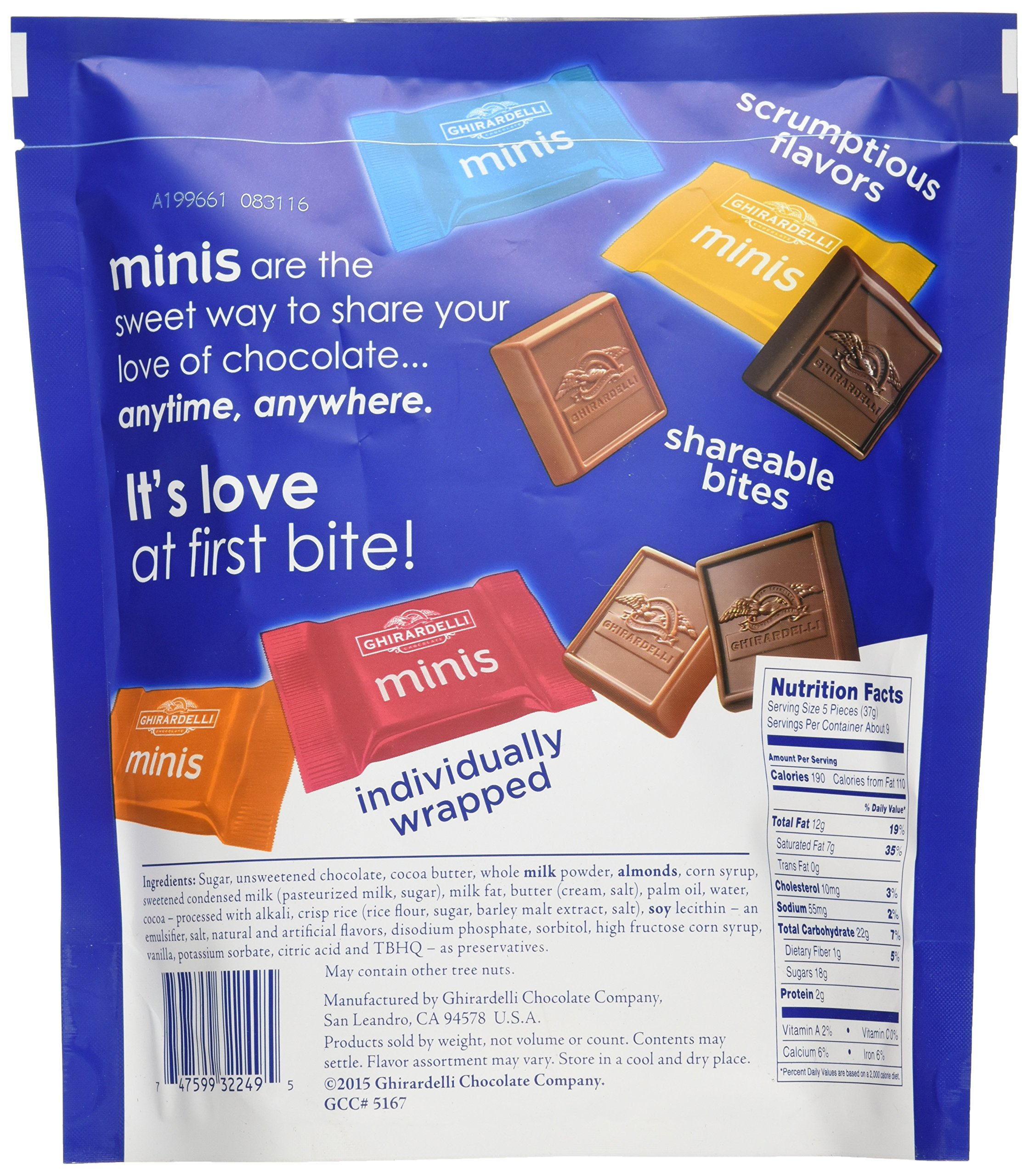 Ghirardelli Assorted Mini Squares Pouch, 12.2 Ounce, X-Large by Ghirardelli (Image #4)