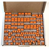Wago 221 Klemmen SET 25x 221-412, 221-413, 221-415   Kabel Verbinder in der wiederverschließbaren Box - Original WAGO