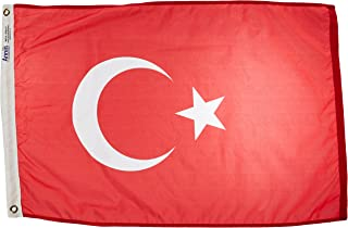 product image for Annin Flagmakers Model 198606 Turkey Flag Nylon SolarGuard NYL-Glo, 2x3 ft, 100% Made in USA to Official United Nations Design Specifications
