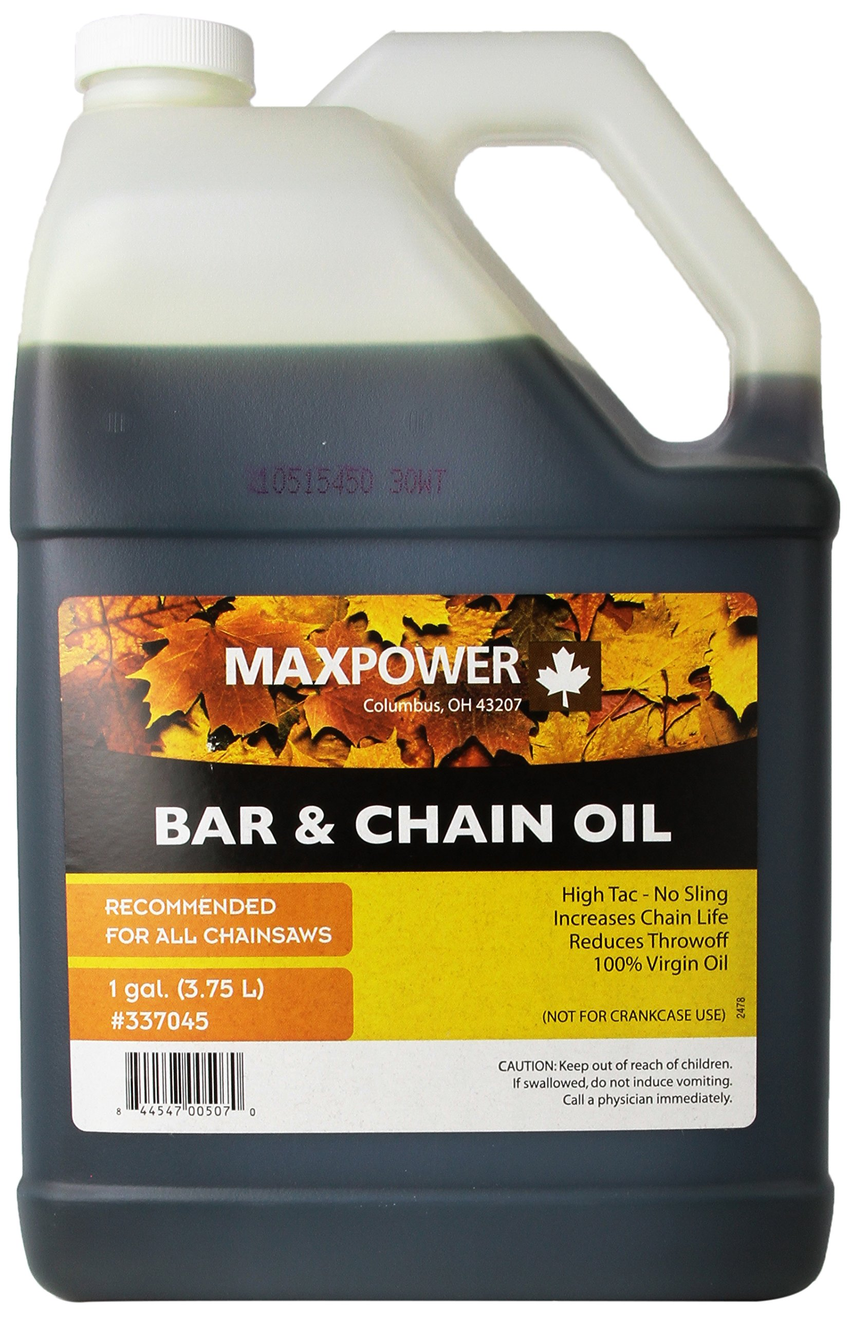 Maxpower 337045 1-Gallon Bar and Chain Oil by Maxpower